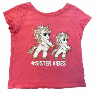 ✨3 for $30✨3T Girls Sparkly Unicorn Sister Tee